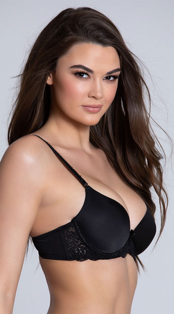 Yandy Sweet On You Black Bra - Black