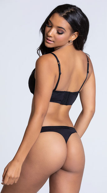 Yandy Femme Modal Black Thong Panty - Black