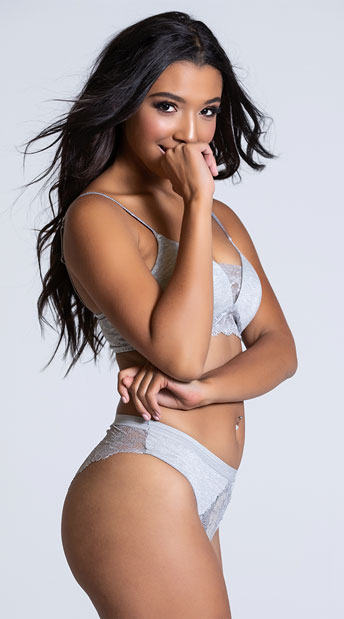 Yandy Femme Modal High Leg Grey Panty - Grey
