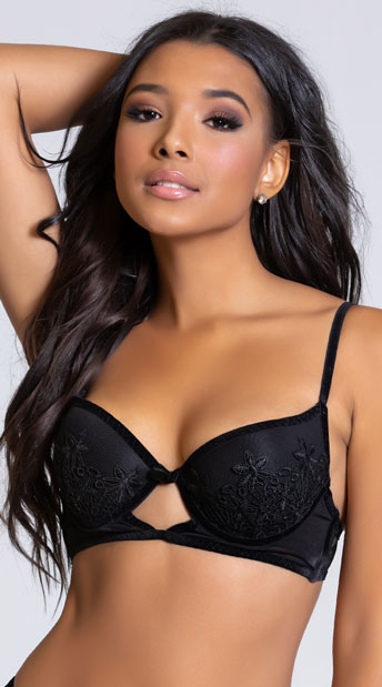 Yandy Eye Candy Black Longline Bra - Black
