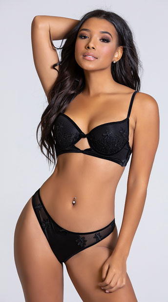 Yandy Eye Candy Black Thong Panty - Black