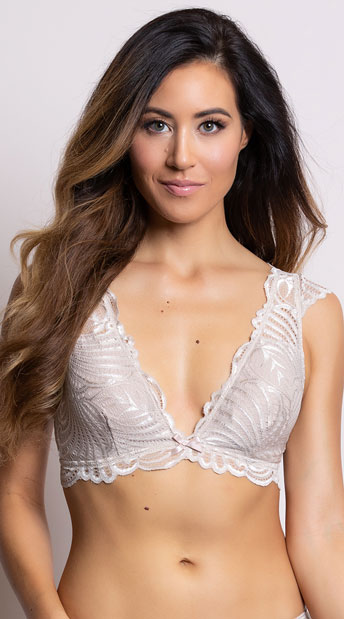 Yandy Sweet As Can V Beige Bralette - Beige