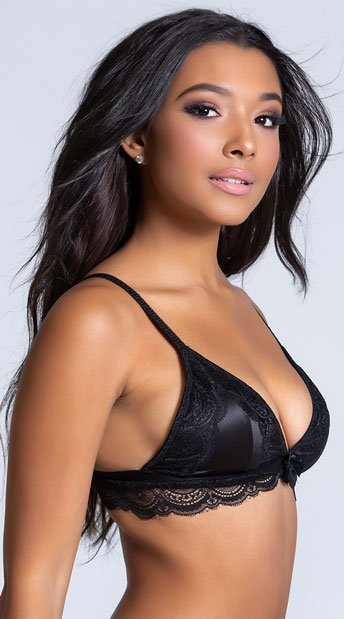 Yandy The Cameron Black Bralette - Black