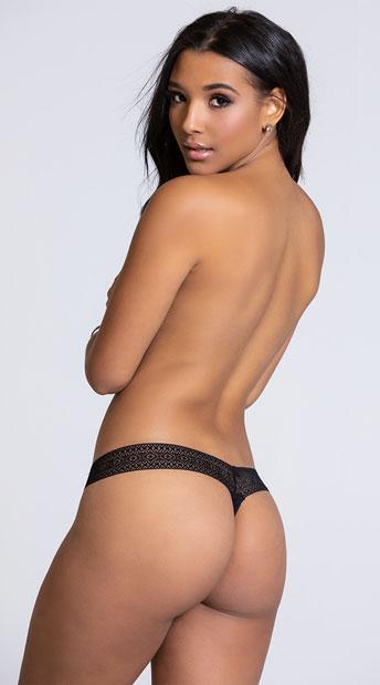 Yandy Chill Out Black Thong Panty - Black