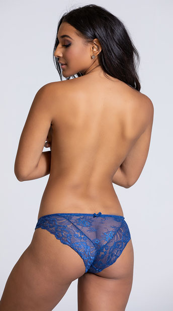 Yandy Free Floater Blue Bikini Panty - Blue