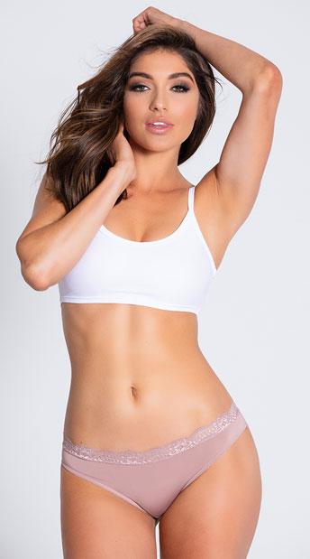 Yandy Push The Petal Tan Bikini Panty - Taupe