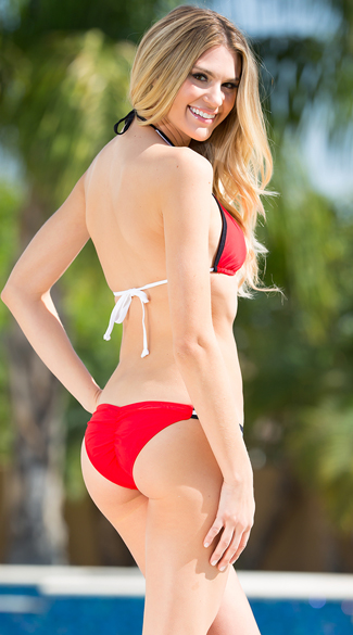 Exclusive Red and Black Team Spirit Bikini - as shown