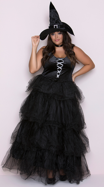 Plus Size Spellbound Witch Costume, Plus Size Witch Costume, Plus Size Sexy Witch Costume