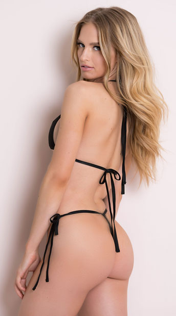 Butterfly String Bikini - Black