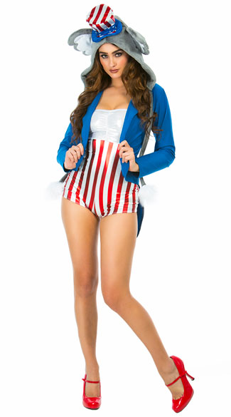 Yandy Sexy Political Elephant Costume - As Shown