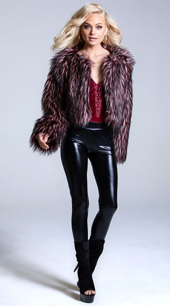 Yandy Maroon Mistress Spike Jacket - Maroon