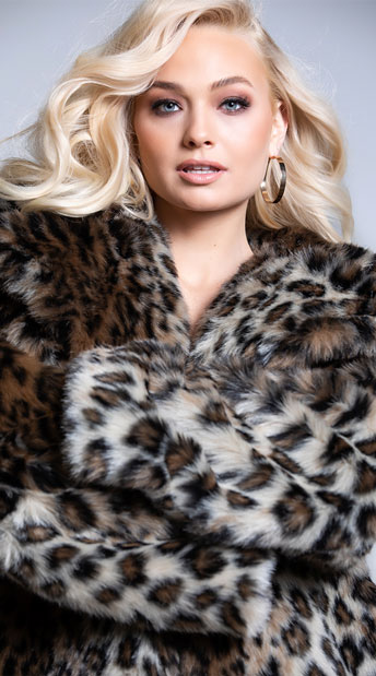Yandy Claws Out Leopard Coat - Leopard Brown