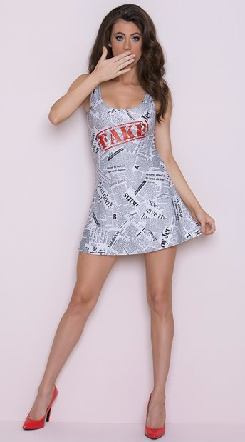 Yandy Faux News Costume, Costume de journal Sexy - Yandycom-9825