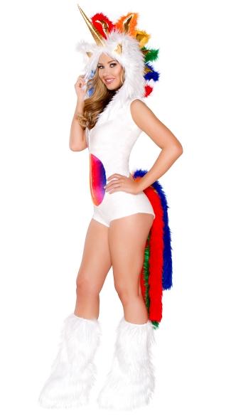 Yandy Deluxe Magical Unicorn Romper Costume - Rainbow