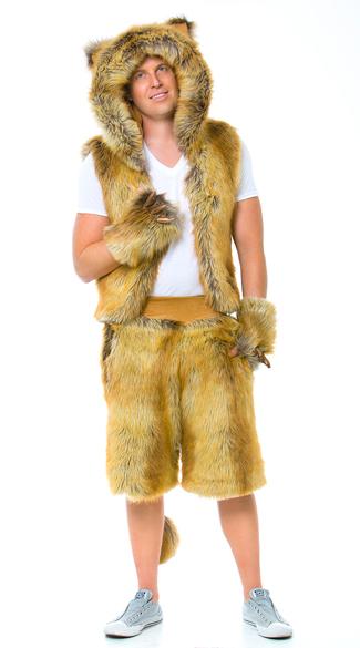 Yandy Men's Furry Lion Costume - as shown