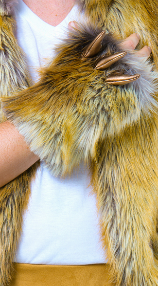 Men's Lion Gloves - Brown