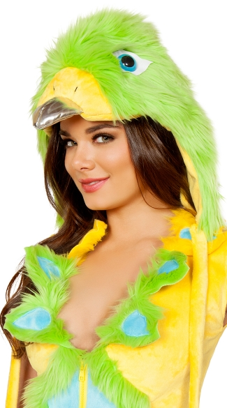 Parakeet Hood, Furry Hood, Animal Fur Hood