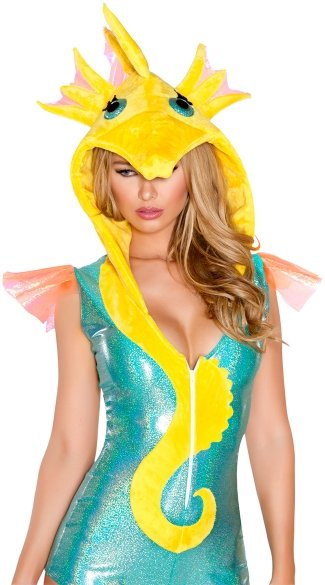 Yandy Deluxe Sexy Seahorse Costume - Blue/Yellow