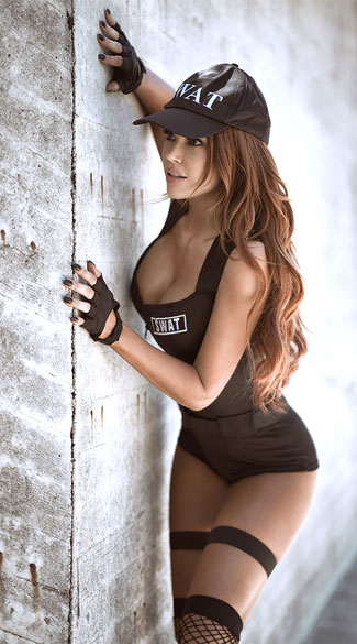 Yandy SWAT Hottie Costume - Black