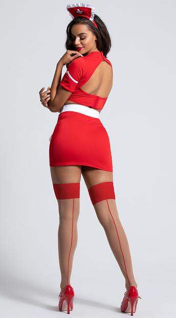 Yandy Heart Attack Hottie Nurse Costume - Red/White