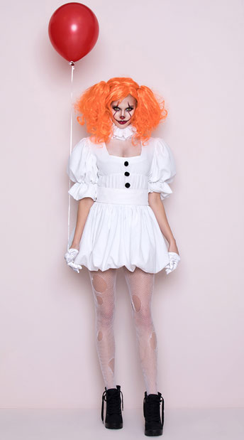 Yandy Dancing Sewer Clown Costume, Sexy Killer Clown -7786