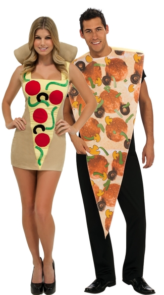 Sexy Slices Couples Costume - as shown
