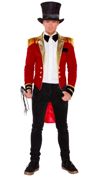 Mr. Ringmaster Costume, Circus Halloween Costume, Men\'s Ringmaster Halloween Costume
