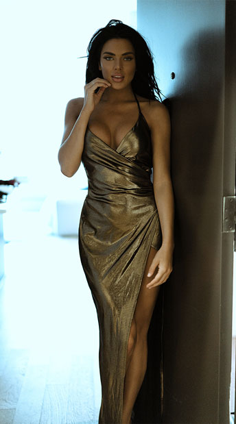 Yandy Divine Metallic Dress - Gold