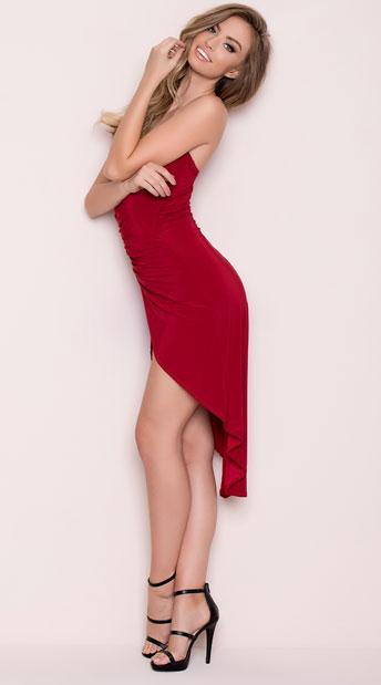 Yandy Divine Mini Dress Red Mini Dress