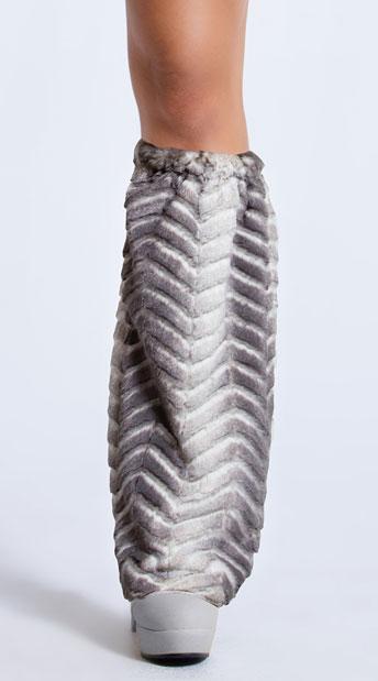 Yandy Winter Warrior Queen Leg Warmers - Grey