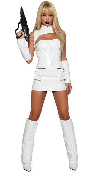 White Soldier Costume, White Sci Fi Costume