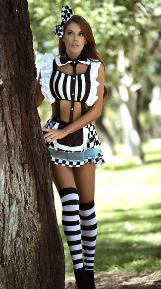 Yandy Eat Me Alice Costume - As Shown