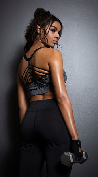 Yandy Multi-Strapped Sports Bra - Charcoal Grey