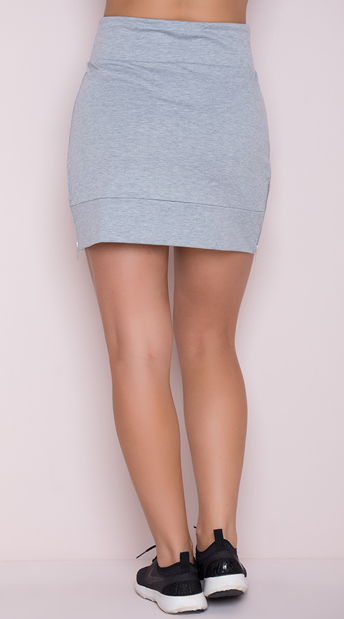 Yandy Soft Active Skirt - Heather Grey