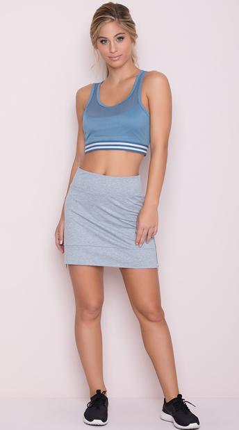 Yandy Soft Active Skirt - Heather Grey