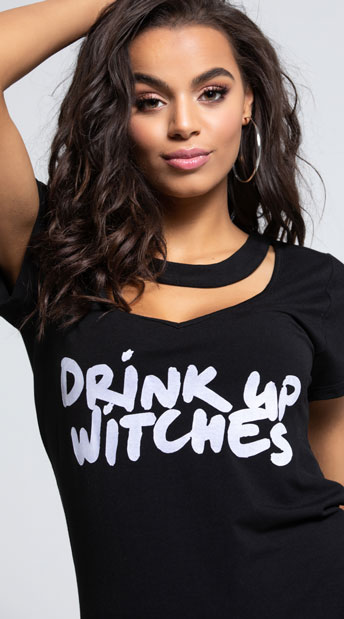 Yandy Drink Up Witches Dress Costume - Black