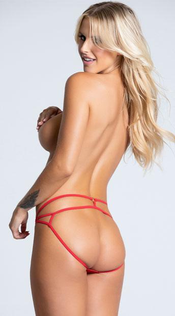 Yandy Strappy Back Panty - Red