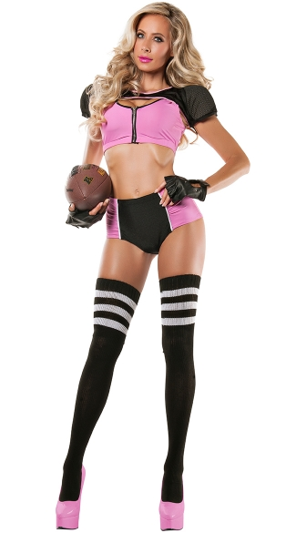 Fantasy Footballer Costume, Womens Sexy Football Costume -3224