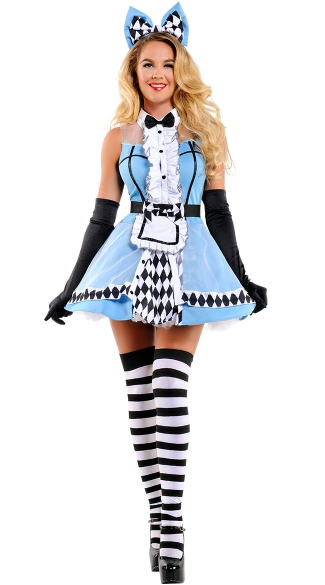 Sophisticated Alice Costume, Alice in Wonderland Costume, Sexy Alice Costume