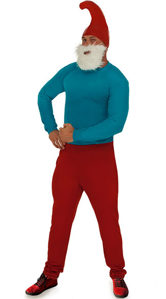 Blue Daddy Costume, Adult Costume, Adult Blue Gnome Halloween Costume