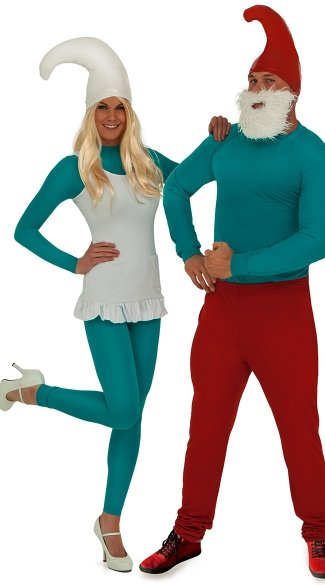 Sexy Blue Gnome Couples Costume, Sexy Blue People Couples Costume, Sexy Blue Couples Costume, Blue Halloween Couples Costume