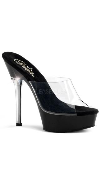 5 1/2 Inch Stiletto Heel Platform Sandal - as shown