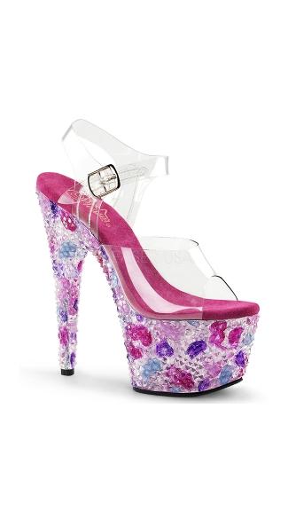 She's A Gem Platform Sandal - Clear/Pink Multi