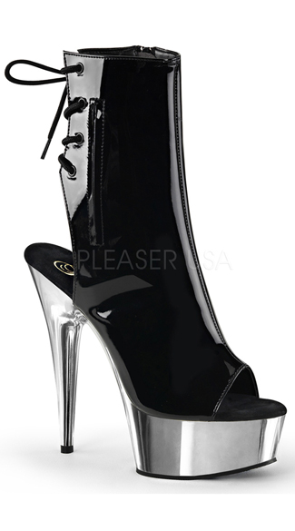 Open Toe and Back Ankle Boot - as shown