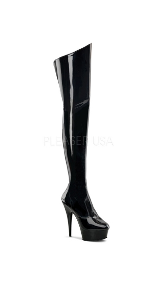 Delight Thigh High Boots - Black