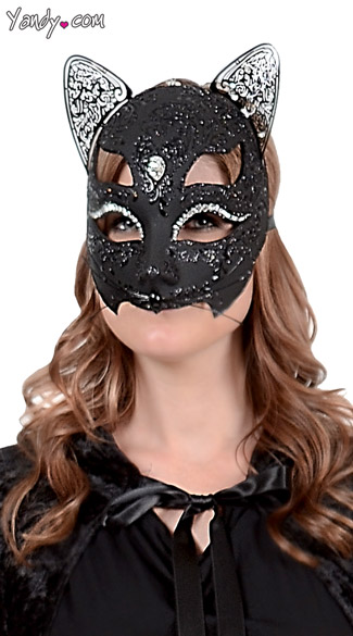 Cat Lux Mask, Cat Costume Mask, Cat Halloween Costume Mask