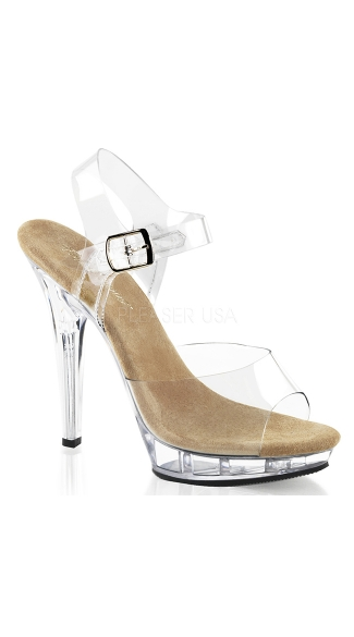 Ankle Strap Open Toe Pump with 5