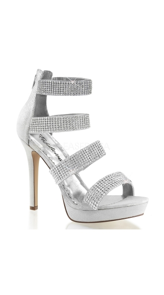 Silver Rhinestone Shoes For Sale