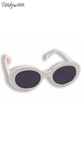 White Sunglasses, White Mod Sunglasses, White Hippie Sunglasses