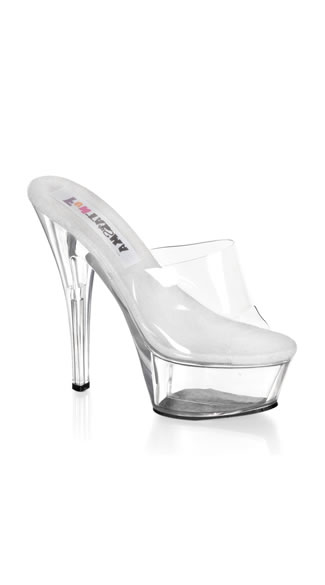 Take Me To New Heights Clear Platform Slide, Stiletto Heel Princess Platform Pump, Sexy Clear Platform Pump